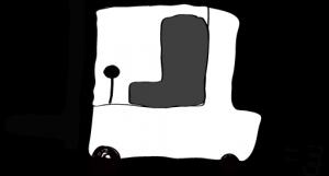 ホワイト:フォークリフト【フリー素材・働く車】