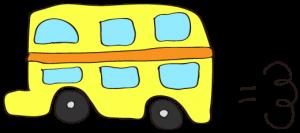 黄色:【乗り物フリー素材】 二階建てバス