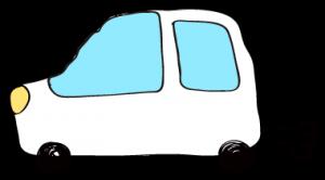 白:【フリー素材・ 自動車】ワゴン