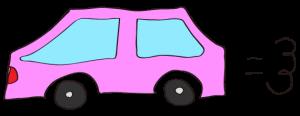 ピンク:【素材・ 自家用車】普通車