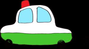 フリー素材 パトカー 緑