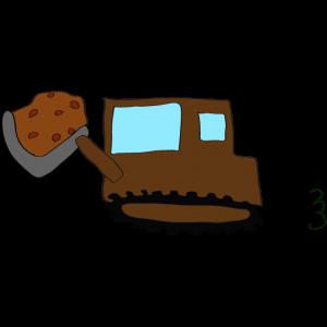 ブルドーザー(土):茶色