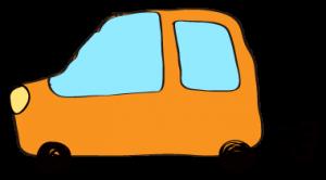 オレンジ:【フリー素材・ 自動車】ワゴン