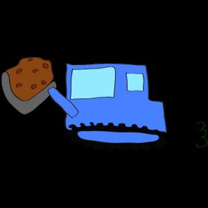 ブルドーザー(土):青