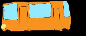 オレンジ:【乗り物フリー素材】 バス