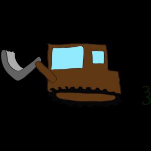 ブルドーザー2:茶色