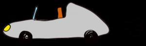 グレー:【素材・ 自動車】オープンカー
