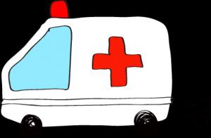 フリー素材 救急車 ホワイト