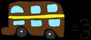 茶色:【乗り物フリー素材】 二階建てバス