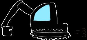 ショベルカー: 黒 【 フリー工事車両 】