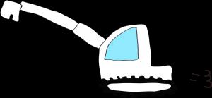 ショベルカーロング:白 【 フリー工事車両 】