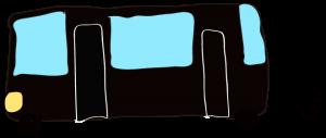 黒:【乗り物フリー素材】 バス