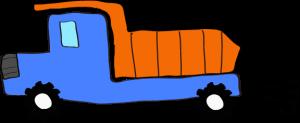 ダンプカー:青 【 フリー素材工事車両 】