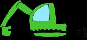ショベルカー: 緑 【 フリー工事車両 】