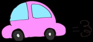 ピンク:【素材・ 自家用車】ワーゲンタイプ