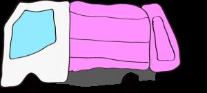 収集車 ピンク