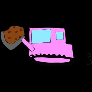 ブルドーザー(土):ピンク