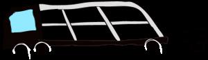 黒:【フリー素材・ 大型車】カーキャリー