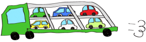 緑:【フリー素材・ 大型車】カーキャリー(積み)