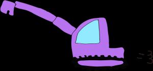 ショベルカーロング:紫 【 フリー工事車両 】