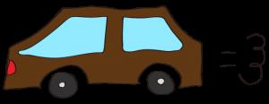 茶色:【素材・ 自家用車】普通車