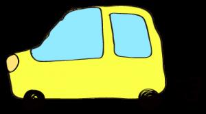 黄色:【フリー素材・ 自動車】ワゴン