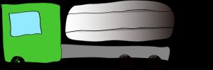 緑:タンクローリー【 フリー素材・働く車 】