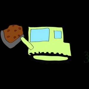 ブルドーザー(土):黄緑