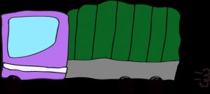 トラック:紫 【 フリー素材  】