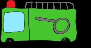フリー素材 【ポンプ車】 緑