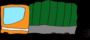 トラック:オレンジ 【 フリー素材  】