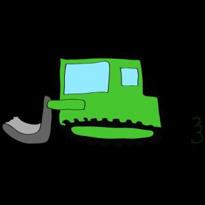 ブルドーザー:緑