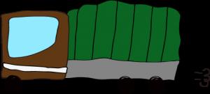 トラック:茶色 【 フリー素材  】