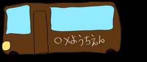 茶色:【乗り物フリー素材】 幼稚園バス2