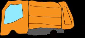収集車 オレンジ