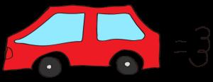 赤:【素材・ 自家用車】普通車