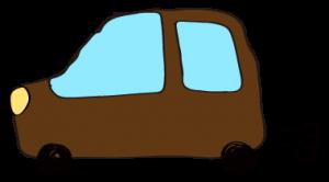 茶色:【フリー素材・ 自動車】ワゴン
