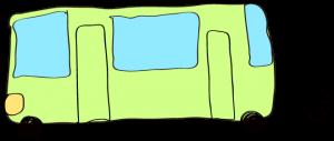 黄緑:【乗り物フリー素材】 バス