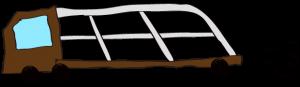 茶色:【フリー素材・ 大型車】カーキャリー