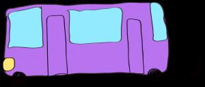 紫:【乗り物フリー素材】 バス