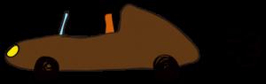茶色:【素材・ 自動車】オープンカー