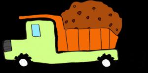 ダンプカー土積:黄緑 【 フリー素材工事車両 】