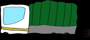 トラック:白 【 フリー素材  】