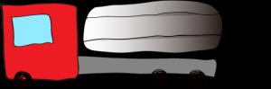 赤:タンクローリー【 フリー素材・働く車 】
