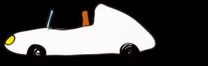 白:【素材・ 自動車】オープンカー