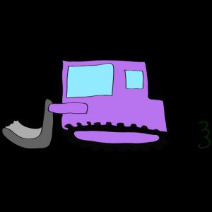 ブルドーザー:紫