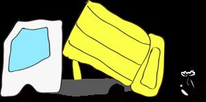 ゴミ収集車 黄色【作業中】