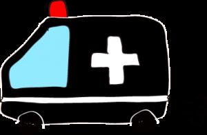フリー素材 救急車 黒