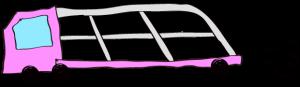 ピンク:【フリー素材・ 大型車】カーキャリー