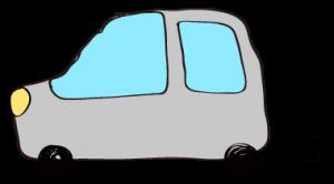 グレー:【フリー素材・ 自動車】ワゴン